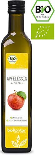 Apfelessig naturtrüb BIO - rein, unverarbeitet, ungefiltert mit Essigmutter - bioKontor - 500ml