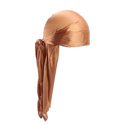 Kostüm Marvel Seide - JUTOO Männer/Frauen Silk Polyester Bandana Hut Durag Rag Tail Headwrap Headwear Geschenk