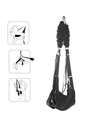 Ibs-unterstützung (Super Love Yoga Swing Decke hängende Schaukel für Erwachsene Unterstützung 220 Ibs schwarz)