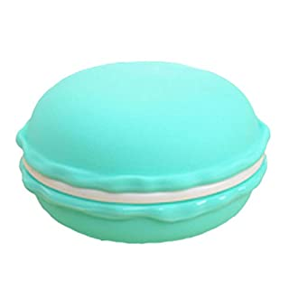 Amybria Big Cute Macaron Pill Box Jewelry Box Storage Case Earring Box Necklac Box Carrying Pouch Green