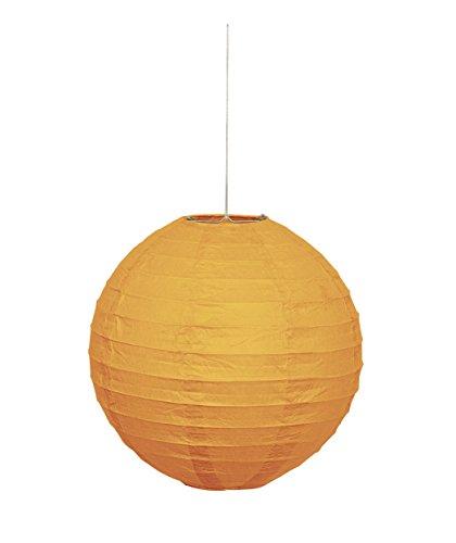 Unique party 64246 - lanterna rotonda in carta arancione, 25 cm