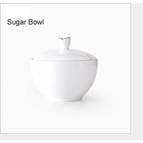 Ciotola di zucchero latte caffè tè pentola porcellana bone China , sugar bowl - Bone Doppia Bowl