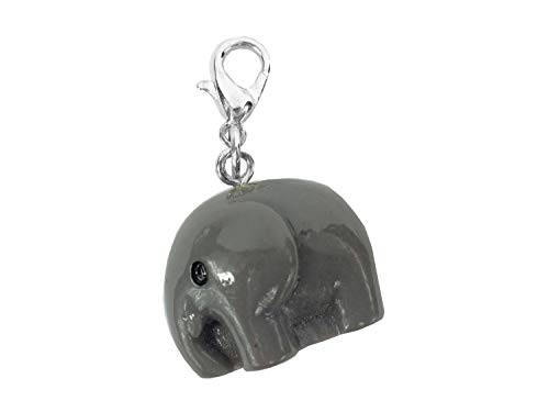 (Miniblings Elefant Charm Anhänger Bettelanhänger Afrika Tier Kunststoff grau)