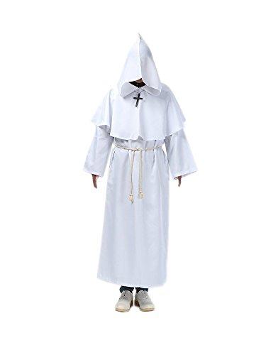 Honeystore Unisex Halloween Hexenmeister Kostüme Kaplan Cosplay Christ Allerheiligen Kleider Weiß (Baby Hawaii Für Jungen Kostüm)