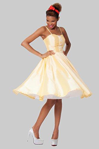 SEXYHER Damen 1950 Vintage Style-Klammer-Rock-Klassiker Kleid - RBJW1429(LightYellow) LightYellow