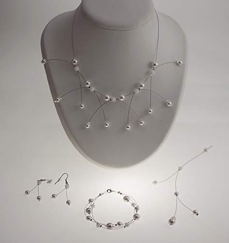 Set di brillantini bianchi n ° 1 - cristallo swarovski - gioielli da sposa - ornamenti da sposa