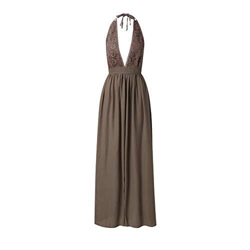 Proumy Vestido Noche Encaje Floral Verano Mujer Ropa