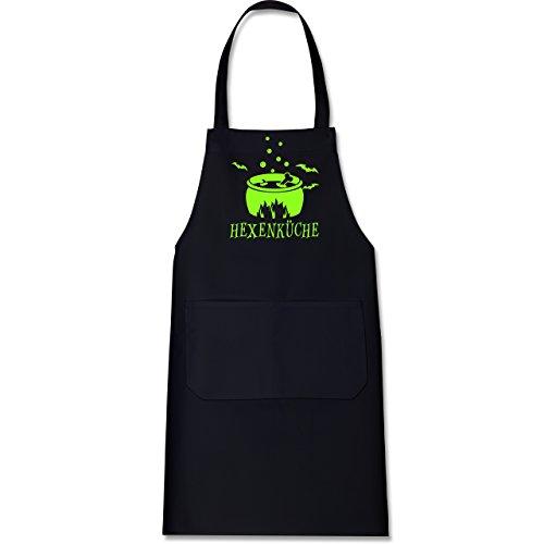 - 80 cm x 73 cm (H x B) - Schwarz - X967 - Kochschürze mit Tasche (Halloween Ist Vorbei)