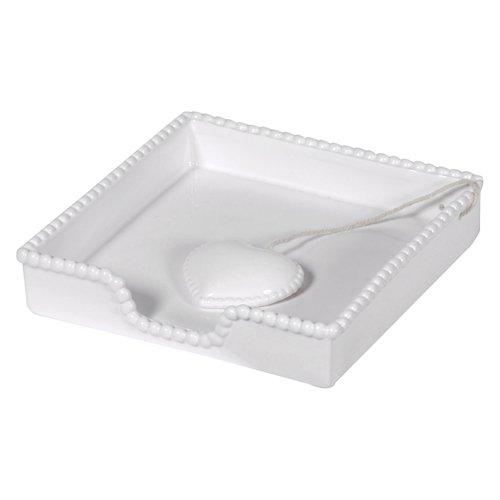 Serviettenhalter Weiß Keramik (Serviettenhalter Keramik weiß, Gisela Graham)