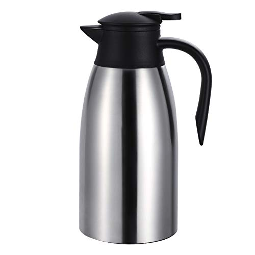 Jarra Térmica 2 litros Acero Inoxidable Termo de Café Jarras para el té y el café