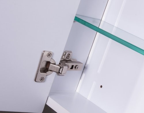 Galdem CURVE100 Spiegelschrank, Holz, 100 x 70 x 15 cm, Weiß - 4