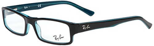 Ray-Ban Herren 5246 Brillengestelle, Schwarz (Black Grey Turquoise), 50 (Rey Brille Ben)