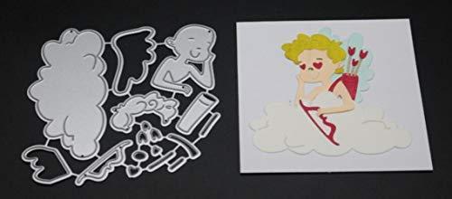CTOBB Umschlag Cut Scrapbook Metallschneideisen für Scrapbooking Stencils DIY Album-Karten Dekoration Embossing Folder Cuts Die Orange - Wort Folder Embossing