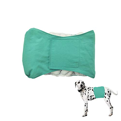 Smniao Hygieneunterhose für Hündinnen Rüden Hundewindeln Inkontinenz Haustier Weibliche groß Hund Katze Windel Schutzhose Unterwäsche (L, Grün)