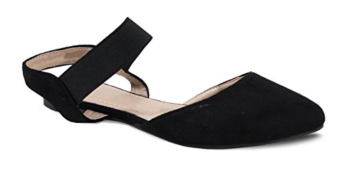 By Shoes - Ballerine Plate Style Daim - Femme