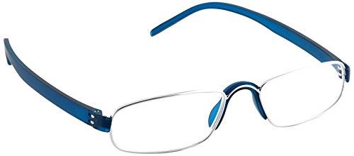 Pachleitner Modische Metall Lesehilfe mit Schließblock inklusive Etui, blau / +3.5 Dioptrien,