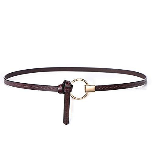 Lässige Gürtel Damengürtel vertraglich verknotet runde Schnalle Kleid, Lässige Mode-Accessoires - Verknotet Schnalle