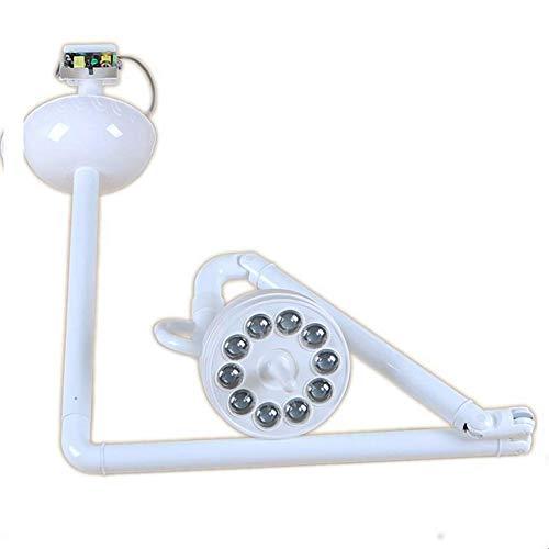 Homekko Chirurgische Medizinische Schattenlose Lampe LED Untersuchungsleuchten Induktions Und Handschalter Verstellbarer Schwenkarm Für Zahnärztliche, Tierkliniken, Kliniken,Ceiling