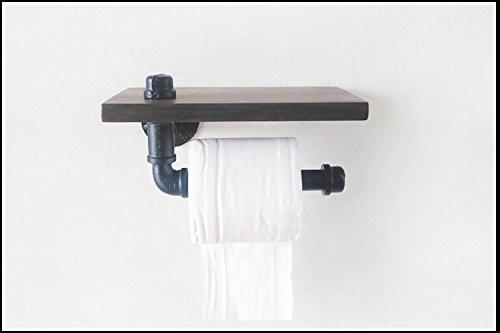Lying Toilettenpapierständer, Massivholz Rack Blumentopf Rack Buch Regal Kreativ Rack Badezimmer Wohnzimmer Industrial Wind Retro Creative finden ( Farbe : #1 )