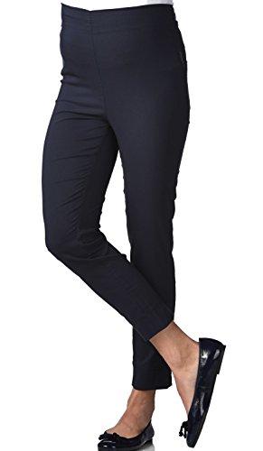 Christoff 7/8 Schwangerschaftshose Umstandshose Sommer-Hose - Straight Fit Gerades Bein - Comfort Bund - 539/46 - Blau - Gr. 44/XXL