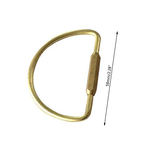 Mayoaoa Karabinerhaken Schlüsselanhänger Messing Schnalle Ringe Karabinerhaken Gepäck Hardware Für Reißverschluss Zieht DIY Karabiner Schlüsselanhänger -