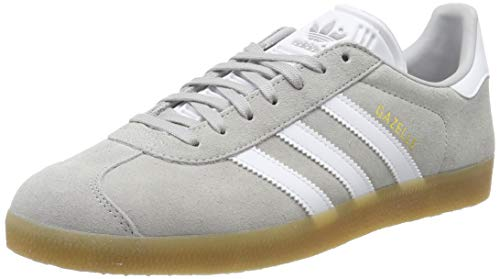 adidas Gazelle, Herren Gymnastikschuhe, Grau (Grey Two F17/Ftwr White/Gum 3 Grey Two F17/Ftwr White/Gum 3), 38 2/3 EU (5.5 UK)