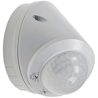 ChiliTec Decken-Bewegungsmelder Aufbau Sensor 24mm 360° I ab 1 Watt - LED geeignet I 1 bis 8m Detektion I 2000W I einstellbar I weiß (Infrarot Aufbau IP65)