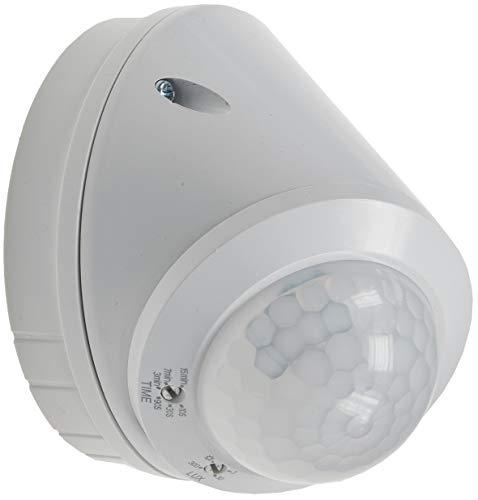 ChiliTec Aussen Wand- und Decken-Bewegungsmelder IP65 360° Sensor I LED geeignet I 8m Detektion I Zeit Reichweite einstellbar I Weiß