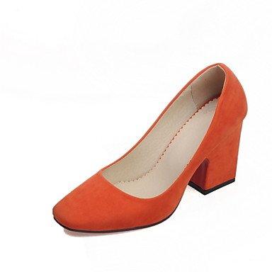 CH&TOU Scarpe Donna - Scarpe col tacco - Tempo libero / Ufficio e lavoro / Casual - Tacchi - Quadrato - Finta pelle -Blu / Verde / Rosa / Grigio orange