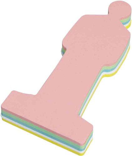 Moderationskarten Mensch, 19,5 cm, 120 St./Pckg., Farbe: farbig sortiert