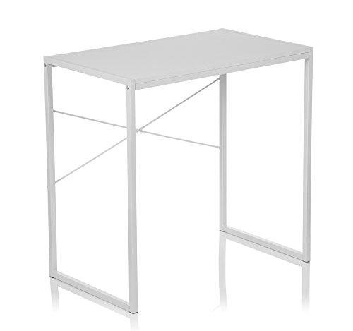 hjh OFFICE 634743 Schreibtisch Easy UP Weiß Home-Office Computertisch klein
