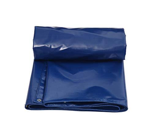 SJIAYB Poncho Impermeable, Tela Tejida Azul Gruesa para Acampar al Aire Libre del vehículo de la Comida campestre (Tamaño : 4 * 5m)