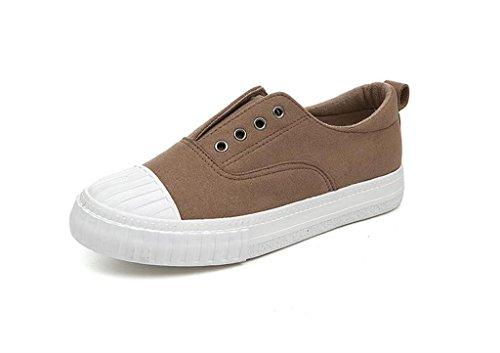 ALUK- Printemps Et Automne Chaussures De Souliers Coréen Casual Shoes Étudiants Set Foot Chaussures De Lazy ( couleur : Gris foncé , taille : 40 ) Kaki