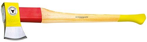 Ochsenkopf OX 648 H-2508 Spalt-Fix®-Axt / Hochwertige große Spaltaxt mit Hickory-Holzstiel und Rotband-Plus Stielbefestigung / Gewicht: 3550 g