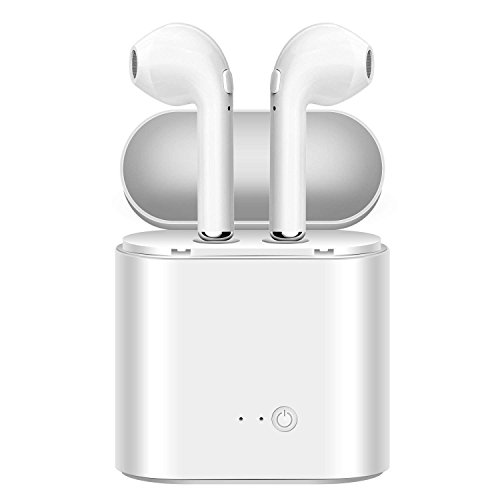Spolonix i7S TWS Twins Wireless Bluetooth Earphone with Mic & Portable Charging Power Dock Compatible with All Android & iOS Smartphones