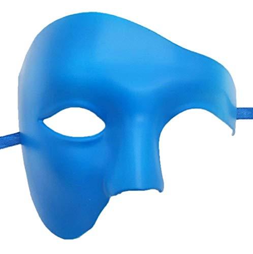 Kind Kostüm Phantom Oper Der - VYNOPA Masquerade Mask Vintage Phantom der Oper One Eyed Half Face Kostüm (Color : Blau)