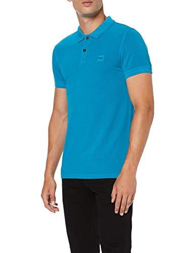 BOSS Herren Prime Poloshirt, Blau (Navy 417), Small (Herstellergröße: S) -