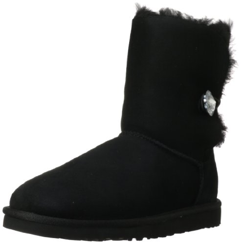 UGG Mini Bailey Bow, Schwarz (Nero), 42 EU (Womens Uggs Boots Bailey Bow)