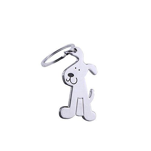 Dosige 1 Piezas Perro liso de metal Perro de simulación Llavero Publicidad...