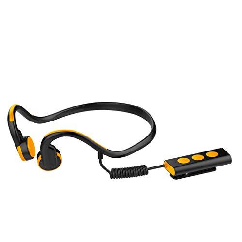 Yowablo Knochenleitung Bluetooth Headset Open Ear Wireless Sport wasserdichte Kopfhörer ( Orange )