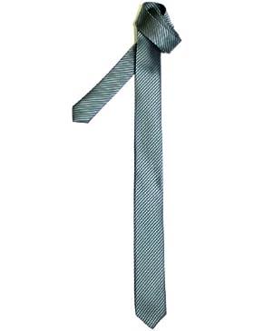 Retreez Corbata fina para hombres con textura de rayas