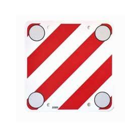 PubbliCentro Warntafel mit Reflektoren und Ösen 50x50 cm Rot-Weiß
