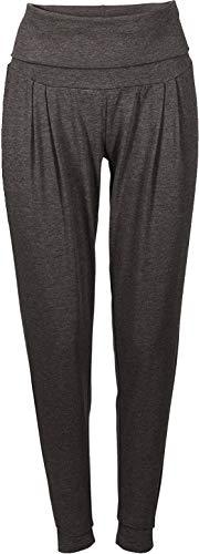 Golden Lutz - Damen Yogahose Yoga Hose Sporthose, lang (Gr. L 44/46, anthrazit - weit/Relaxed fit)