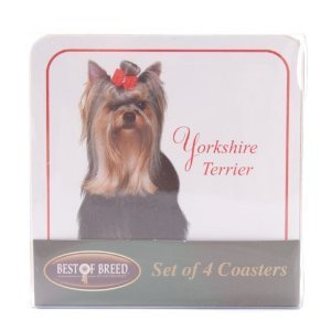 Best Of Breed Yorkshire Terrier Set of 4 Coasters Heat Resistant by Best of (Yorkshire Terrier Coaster)