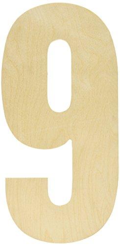 MPI Baltischer Birke Collegiate Schrift Buchstaben und Zahlen, stoßabsorbierender Griff, Nummer -