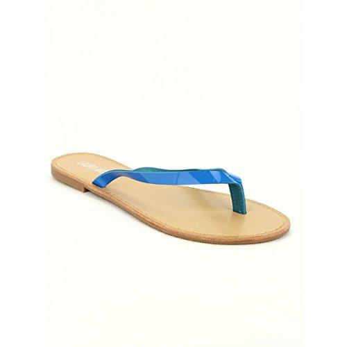 Cendriyon, Tong Color Blue Vernie MODA Chaussures Femme Bleu