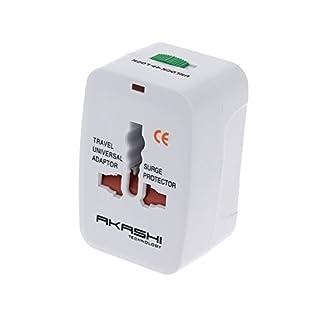 Akashi–Adapter Universal Reiseadapter mit Überspannungsschutz für Crosscall Trekker X3–M1