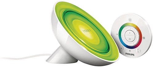 Philips LivingColors Bloom - Lámpara de mesa LED, luz de ambiente con mando a distancia, color blanco