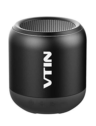 VTIN K1 -Altavoz Bluetooth Portátiles, Sonido con Estéreo Premium 8W, Tamaño Pequeño y HiFi Potente los Bajos, 3 Modos : conexión bluetooh, Cable USB-Jack y Tarjeta SD.