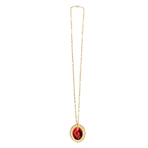 PARTY DISCOUNT Kette Ruby Charm, goldfarben mit rotem Stein